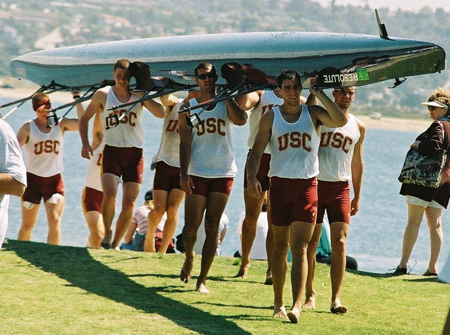 USC men taking their boat in:
