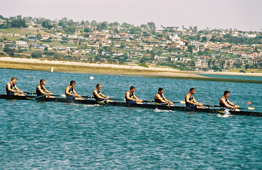 Cal men heading to victory: Taken at the San Diego Crew Classic on Sunday, April 4, 2004.