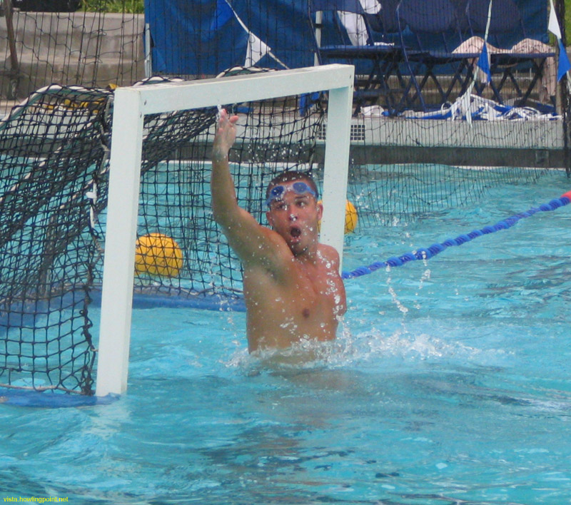 Warming up: Unidentified player warming up for the Pepperdine-Loyola Marymount game during a break in   the action between Redlands and UC Davis.
