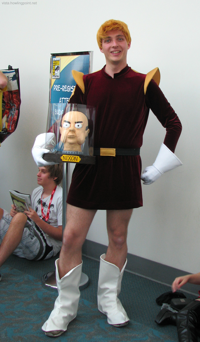Captain Zapp Brannigan and Nixon's Head: Love this character from <em>Futurama</em>, and this was the first time I've seen the costume done really well here.