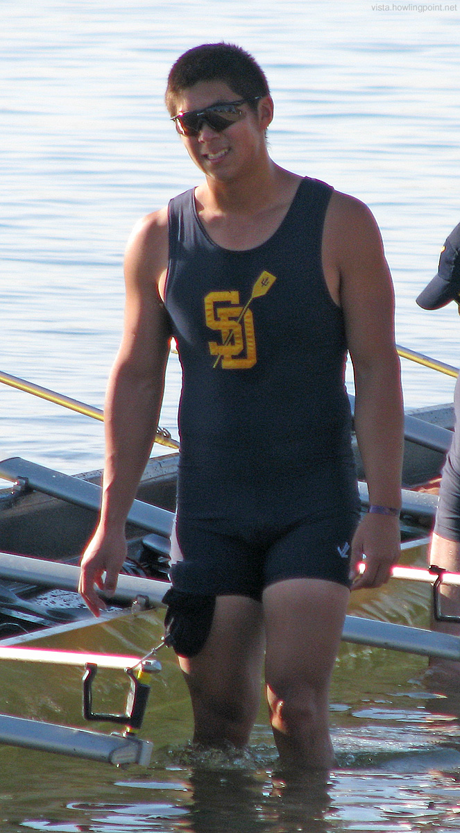 Triton Heading Out: UC San Diego rower heading out for an early morning race, probably the Collegiate JV Petite.