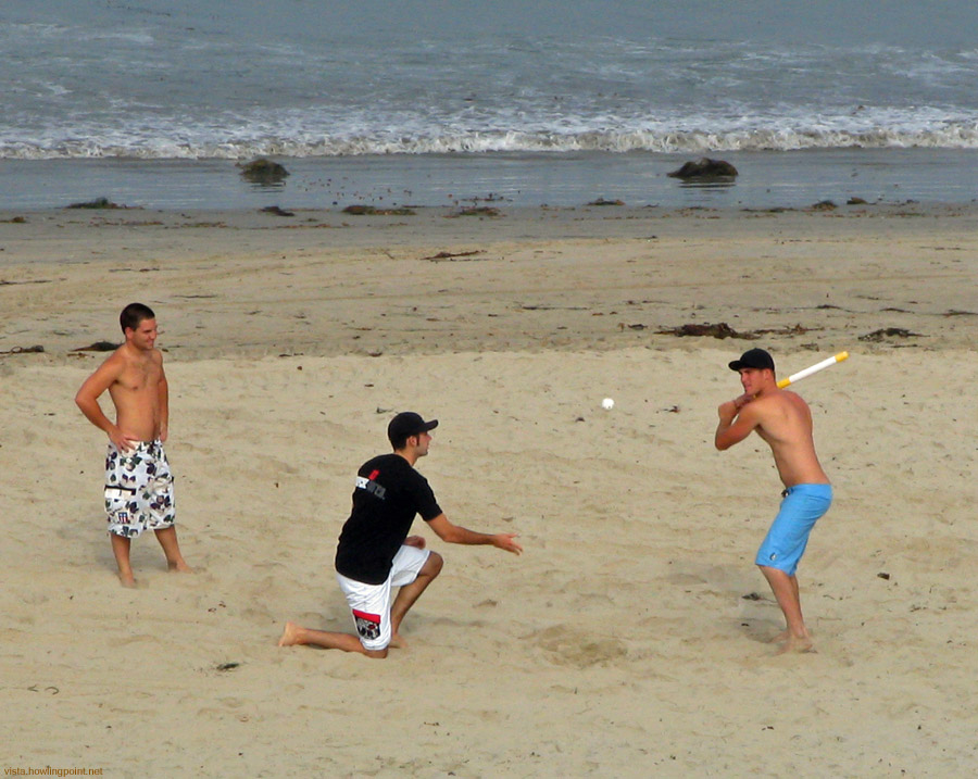 Over The Line: A friendly game of Over The Line at Pacific Beach on Independence Day.