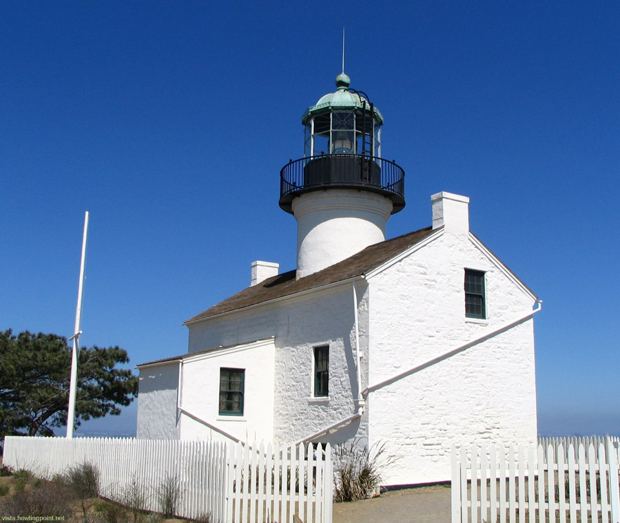 Point Loma Lighthouse: Built in 1854, this landmark is now within the Cabrillo National Monument site at the southern tip of Point Loma.