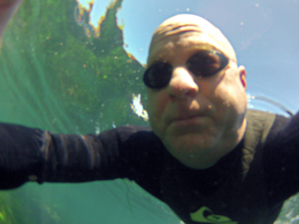 DCIM\100GOPRO: Underwater self-portrait at La Jolla Cove testing out my new GoPro Hero 2.