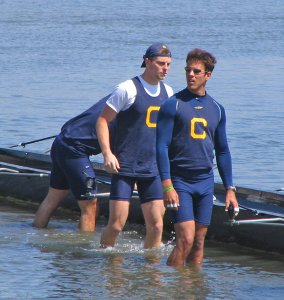 Cal rowers prepping