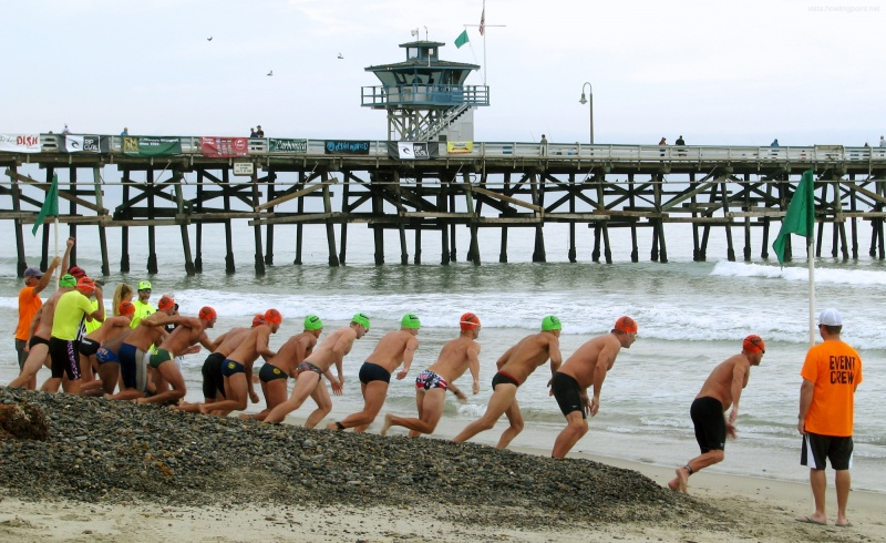 Swimmers starting