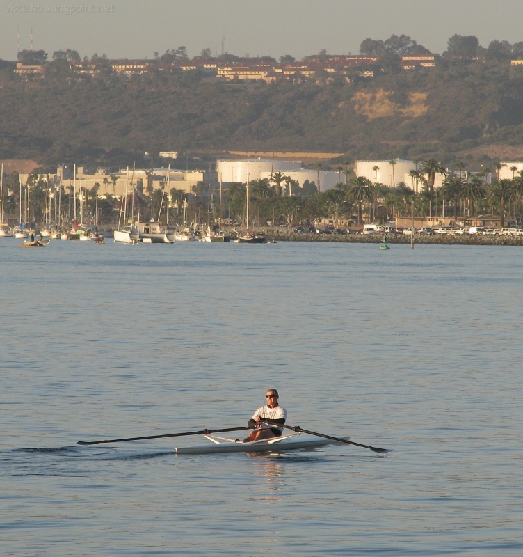 Early morning rower