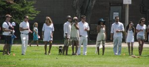 Croquet...the sport of looking good in white.