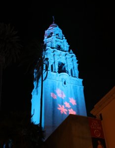 Christmassy California Tower