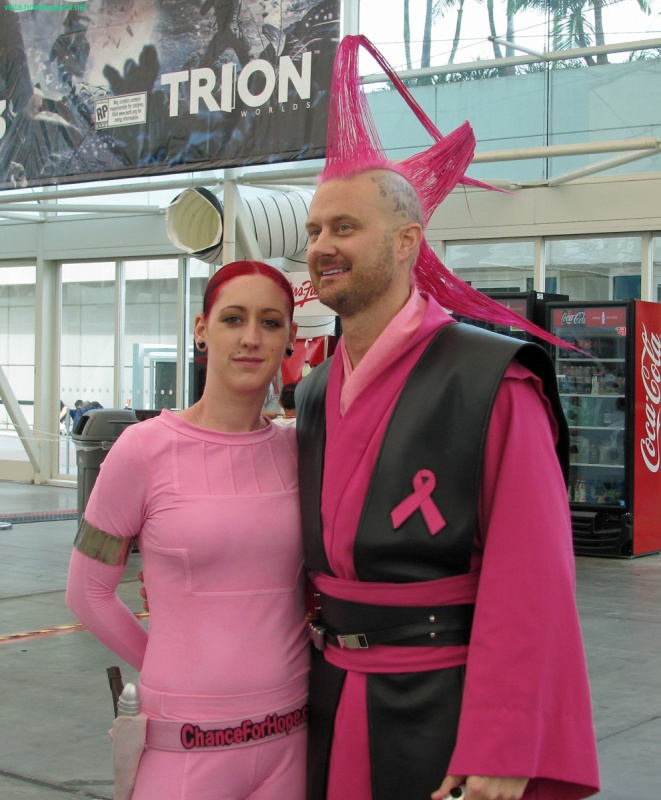 Jedi fighting the dark side of breast cancer