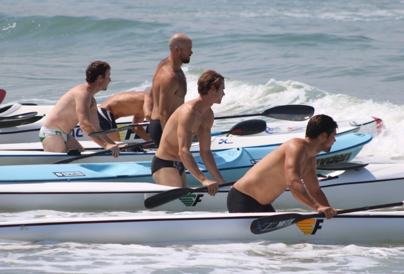 Lining up surf skis